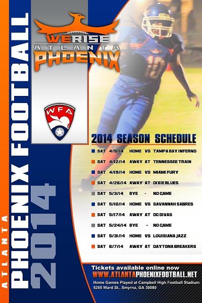 2014 Season Schedule