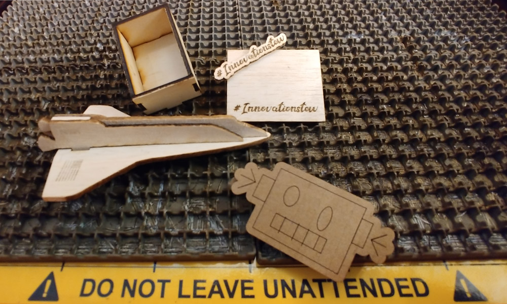 Wooden items made on our Laser Cutter