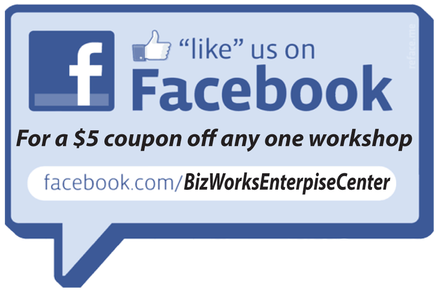 Like Us on Facebook for $5 off workshop fee