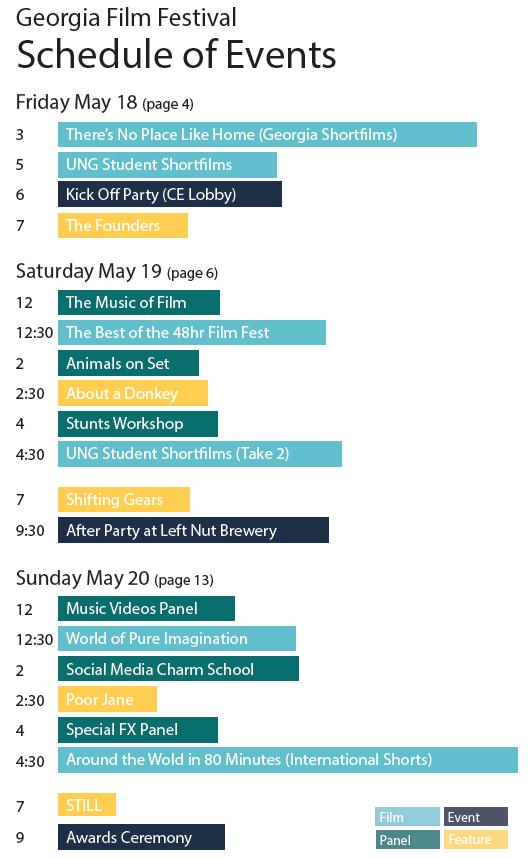 Snapshot 3-day festival schedule
