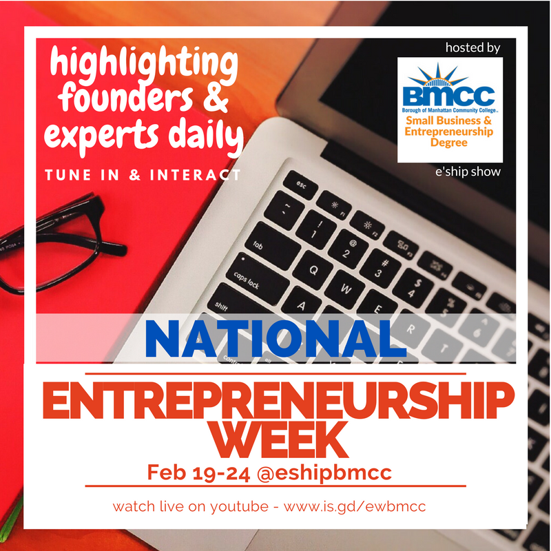 BMCC Entrepreneurship Week interviews - find out more about our 2 year entrepreneurship degree