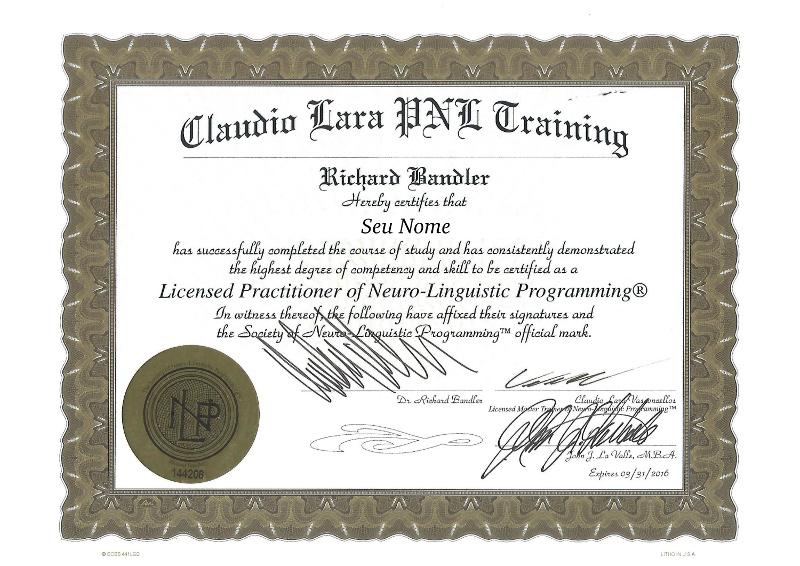 Certificado Internacional PNL