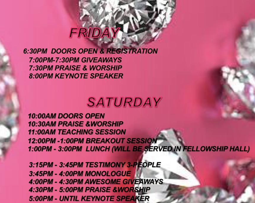 Women's Conference Schedule for Friday & Saturday