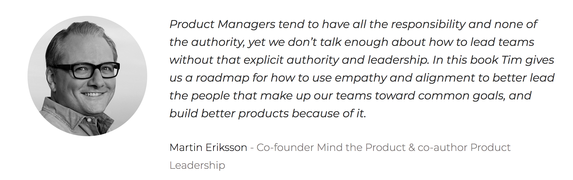 Martin Eriksson on Lateral Leadership by Tim Herbig