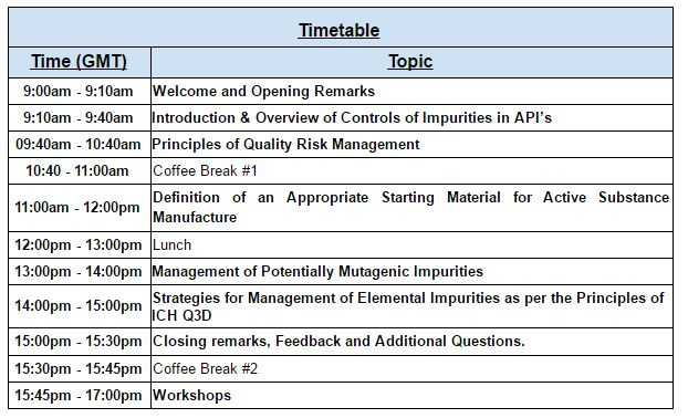 DCU API Symposium Timetable
