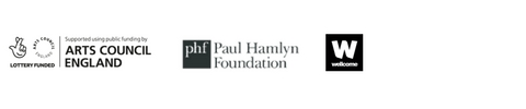 Arts Council England, Paul Hamlyn Foundation, Wellcome Trust logos
