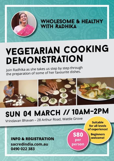 Vegetarian Cooking Demonstration