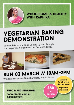 Vegetarian Baking Demo in Perth