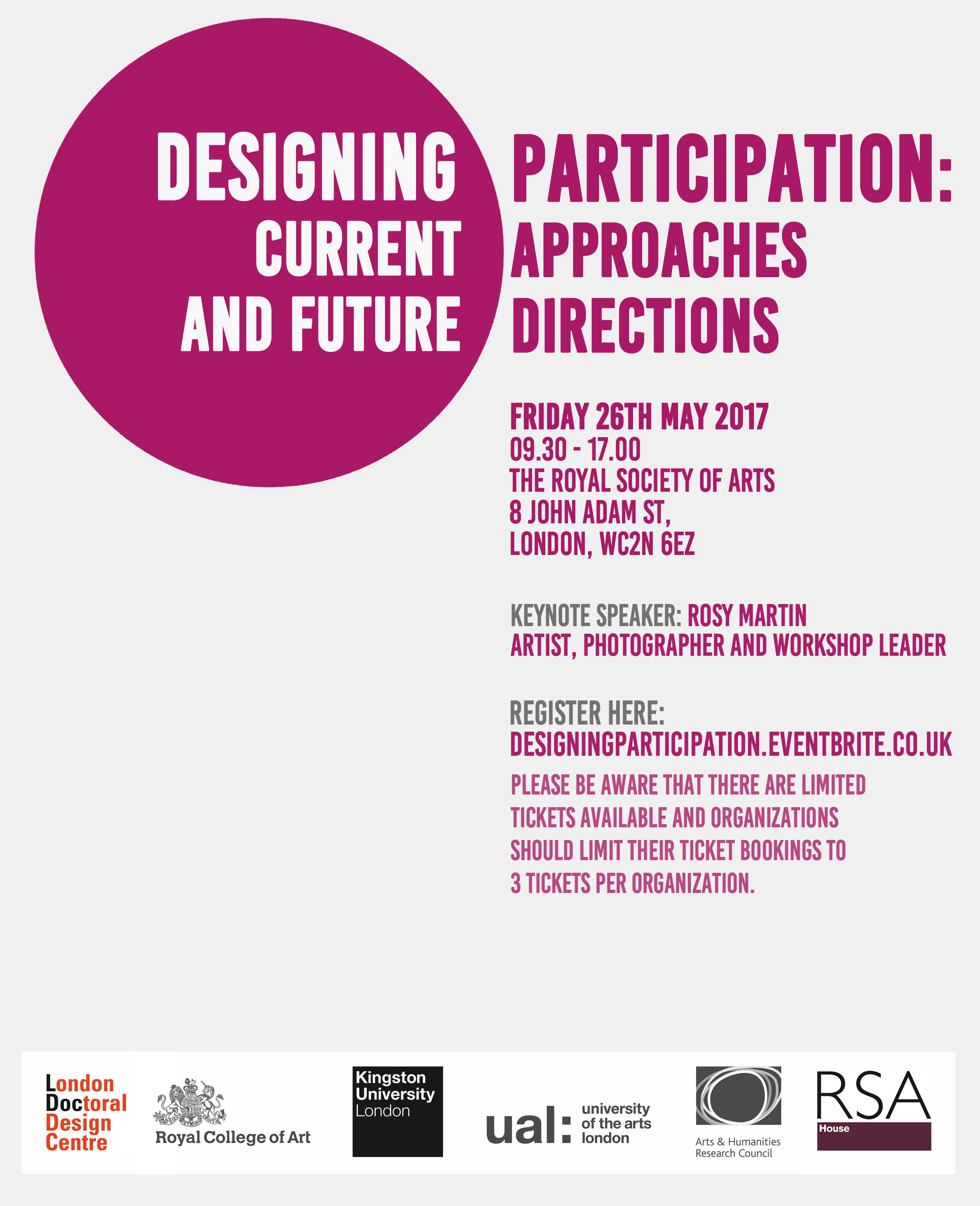 Invite of the ''Designing Participation'' conference - 26.5.17