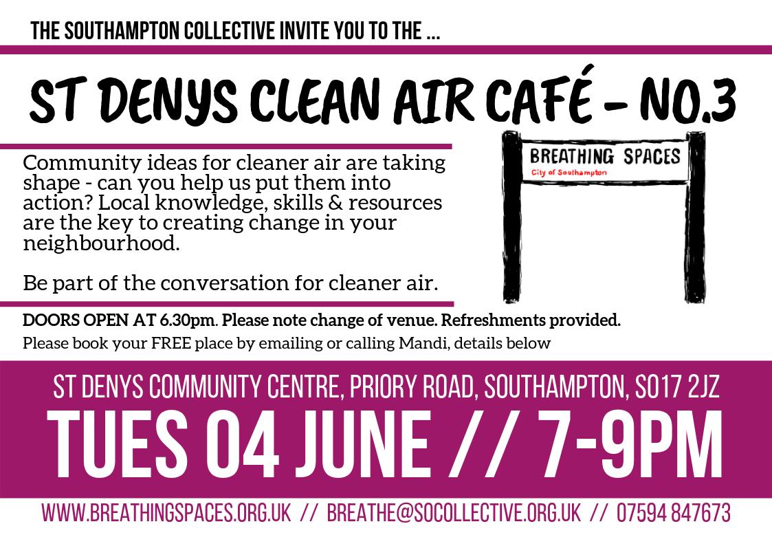 St Denys Clean Air Café No3 - flyer
