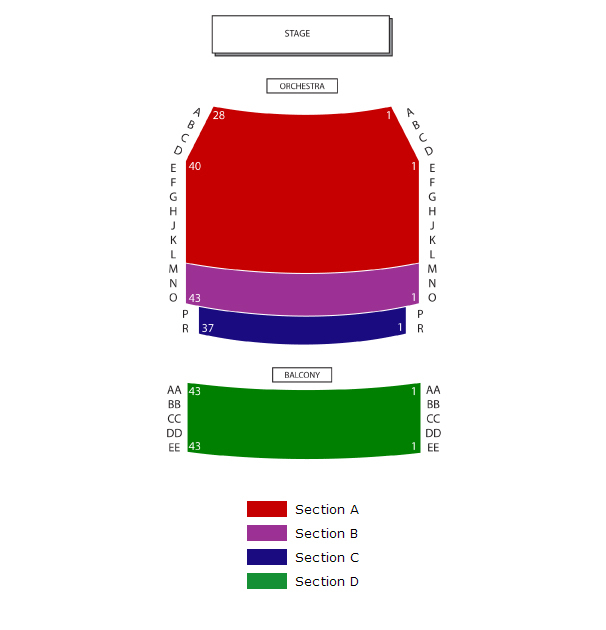 Aratani Theatre Seating Chart