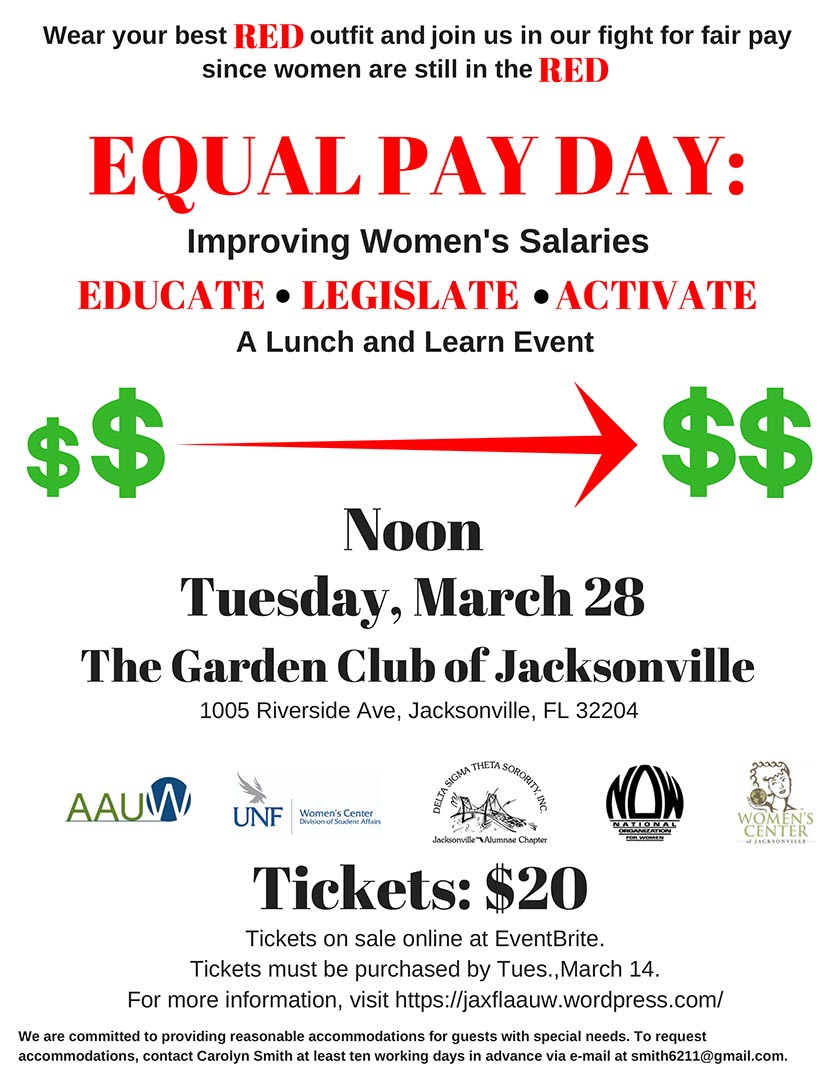 image of the Equal Pay Day Lunch and Learn flyer