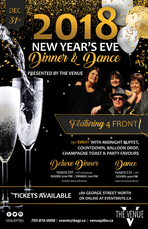 2018 NYE Dinner & Dance Poster