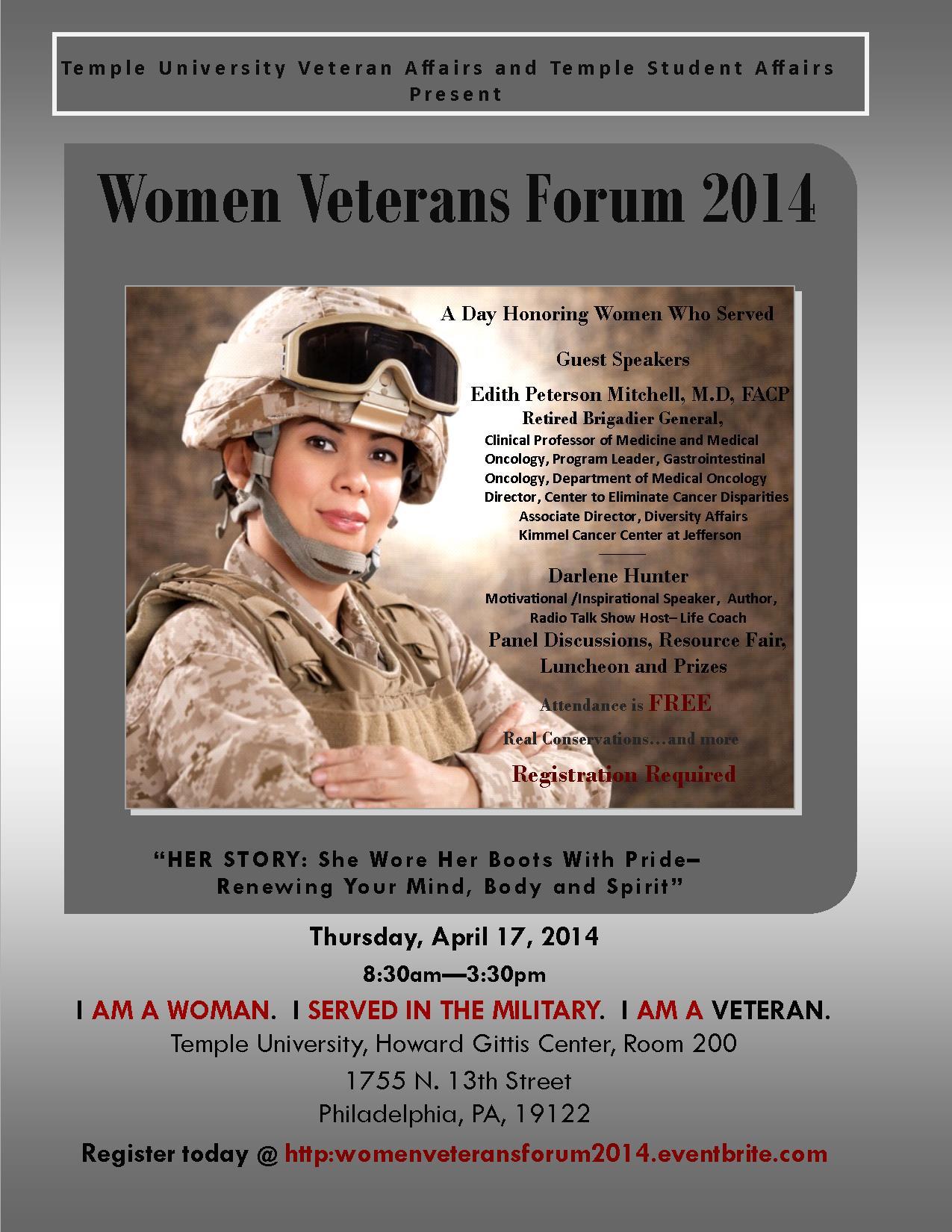 Women Veterans Forum 2014