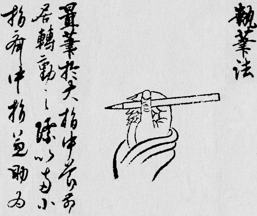 holding brush illustration
