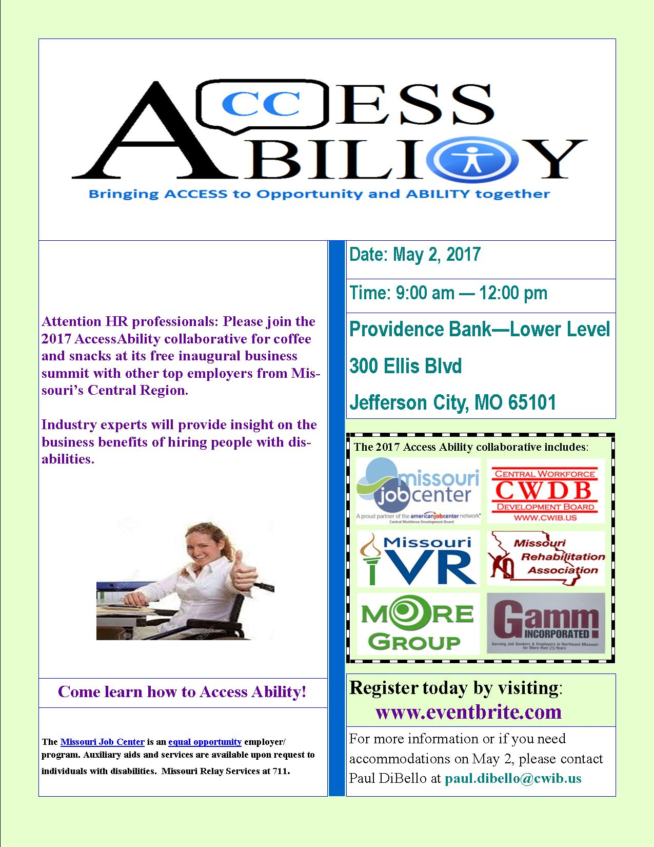 2017 AccessAbility Business Summit Flyer