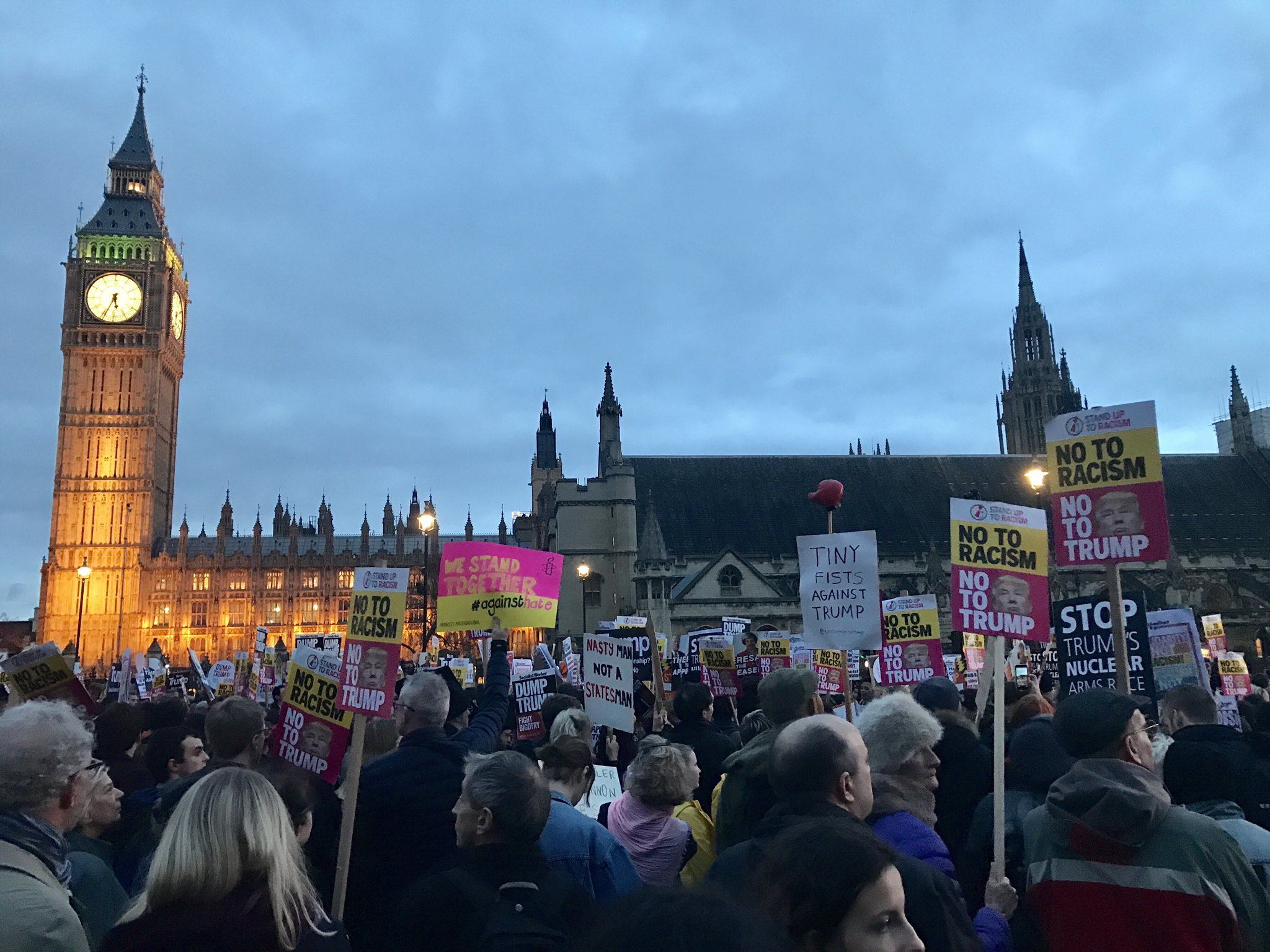 Stop Trump Demo Parliament Square