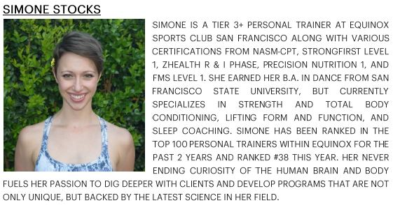 SIMONE STOCKS BIO