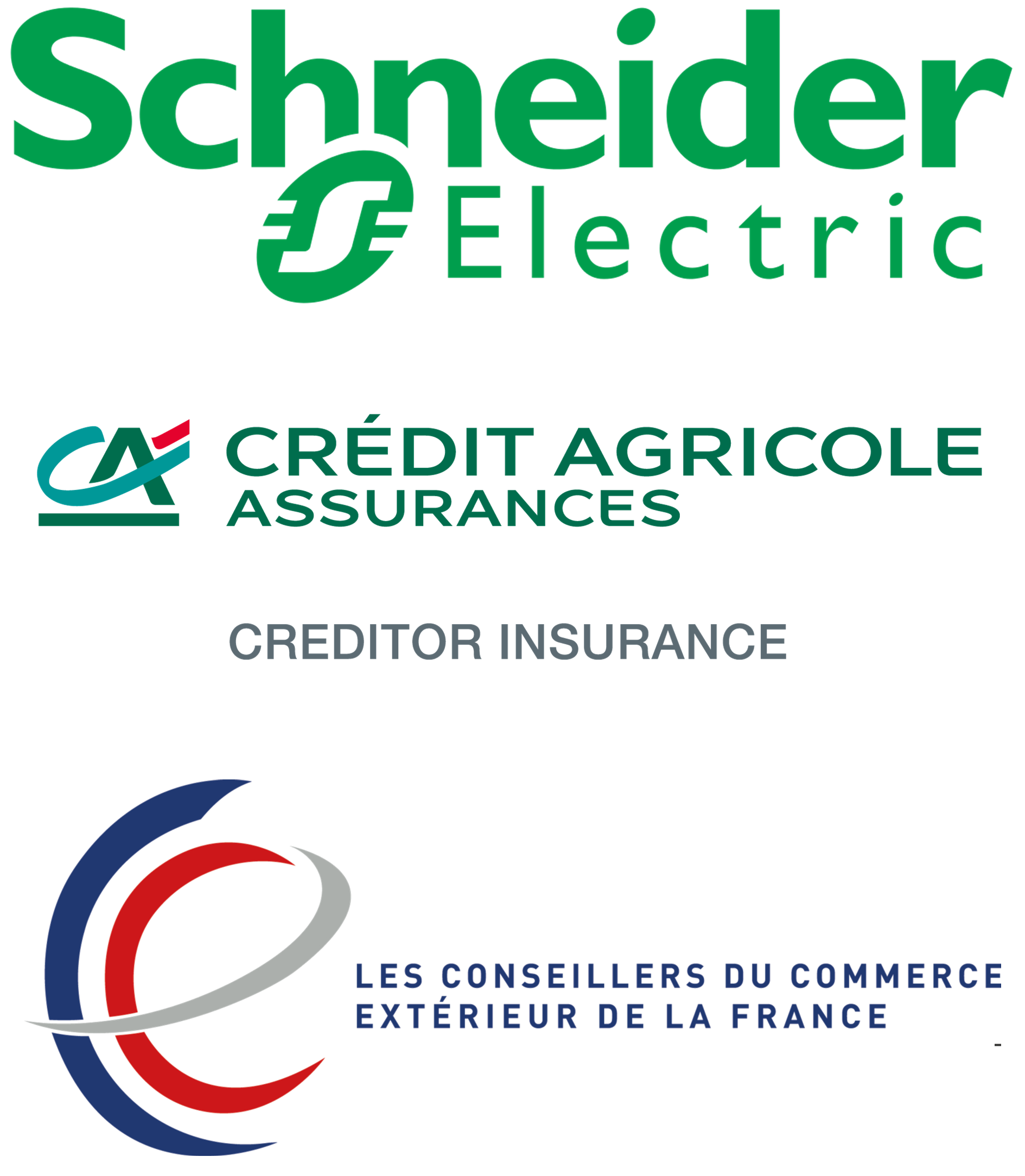 Sponsors : Schneider Electric, Credit Agricole Corporate and Investment Bank, Conseillers du Commerce Exterieur de la France