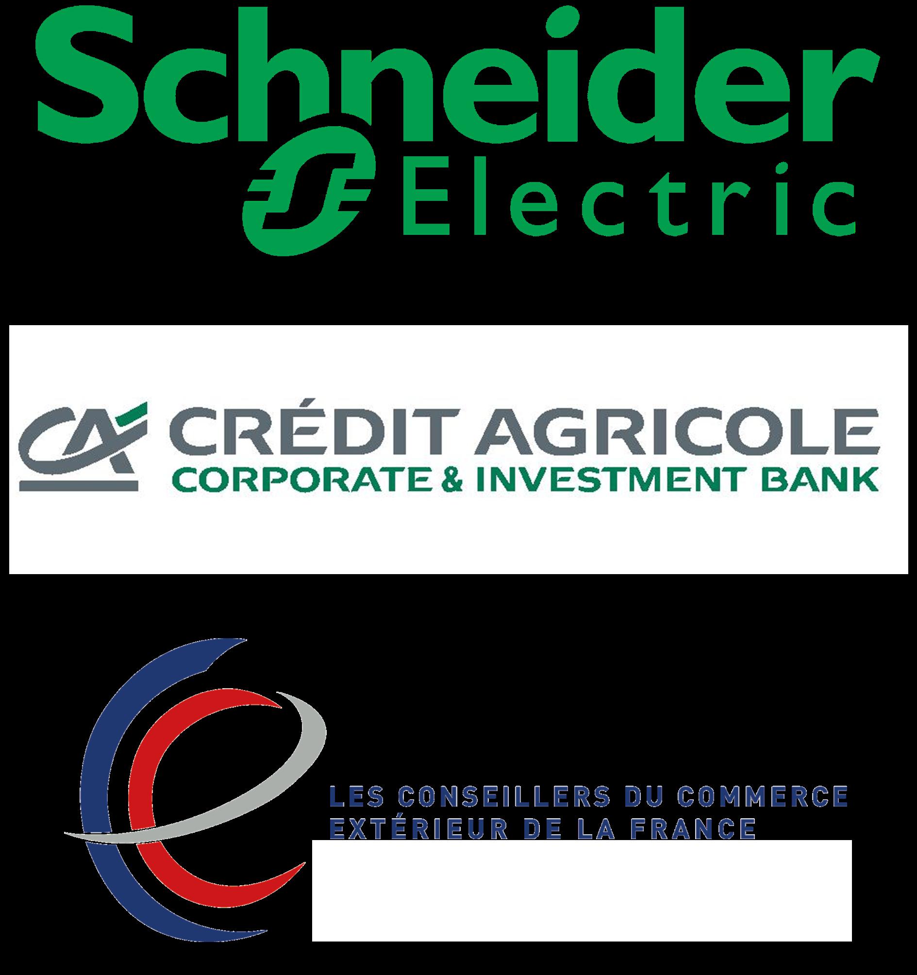 Sponsors : Schneider Electric, Credit Agricole Corporate and Investment Bank, Conseillers du Commerce Exterieur de la France