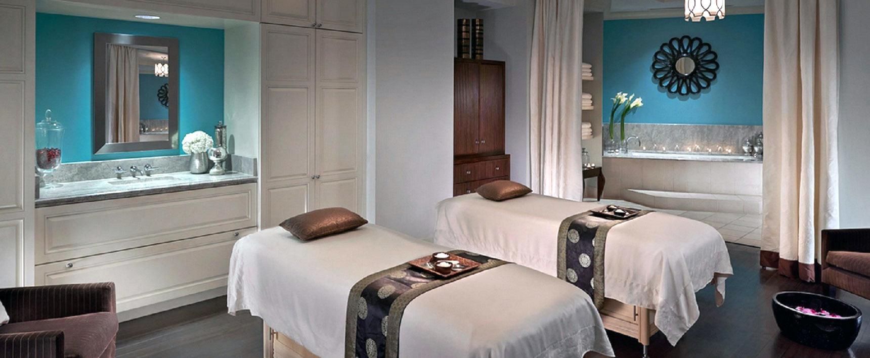 Area massaggi di una SPA