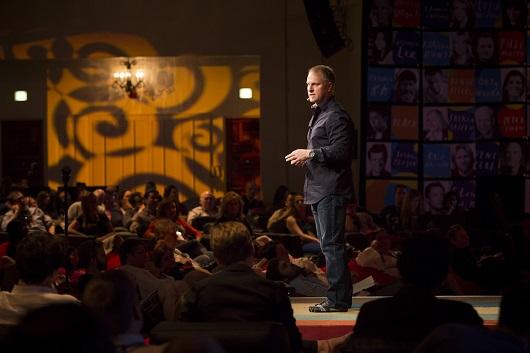 John Bates onstage at TEDActive 2013