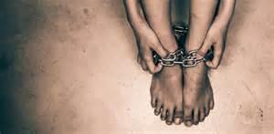 Girls feet in chains