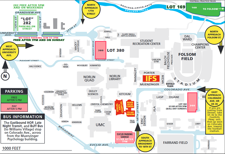 CU-Boulder parking map