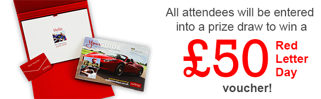 Don't miss your chance to win a £50 Red Letter Day voucher!