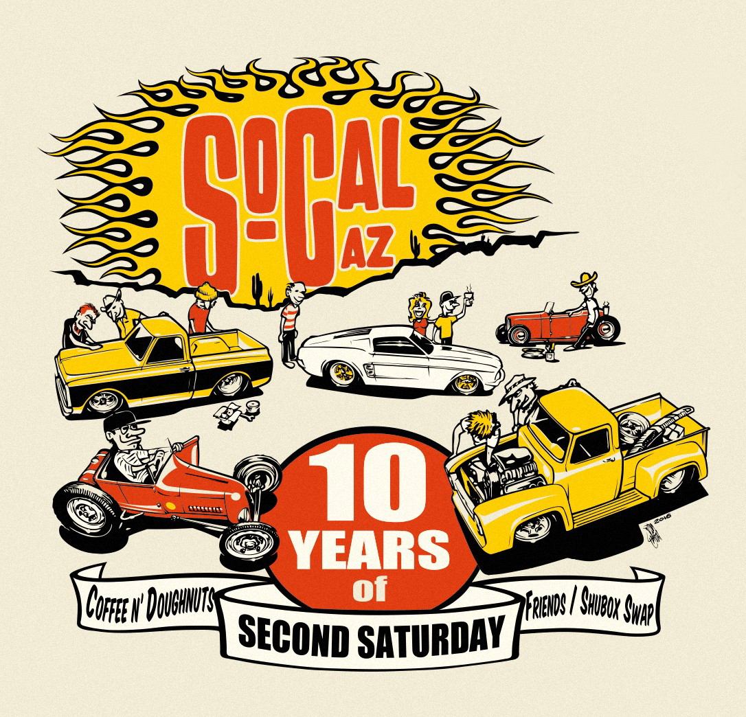 SO-CAL Speed Shop Arizona's Second Saturday 2017 T-Shirt Design