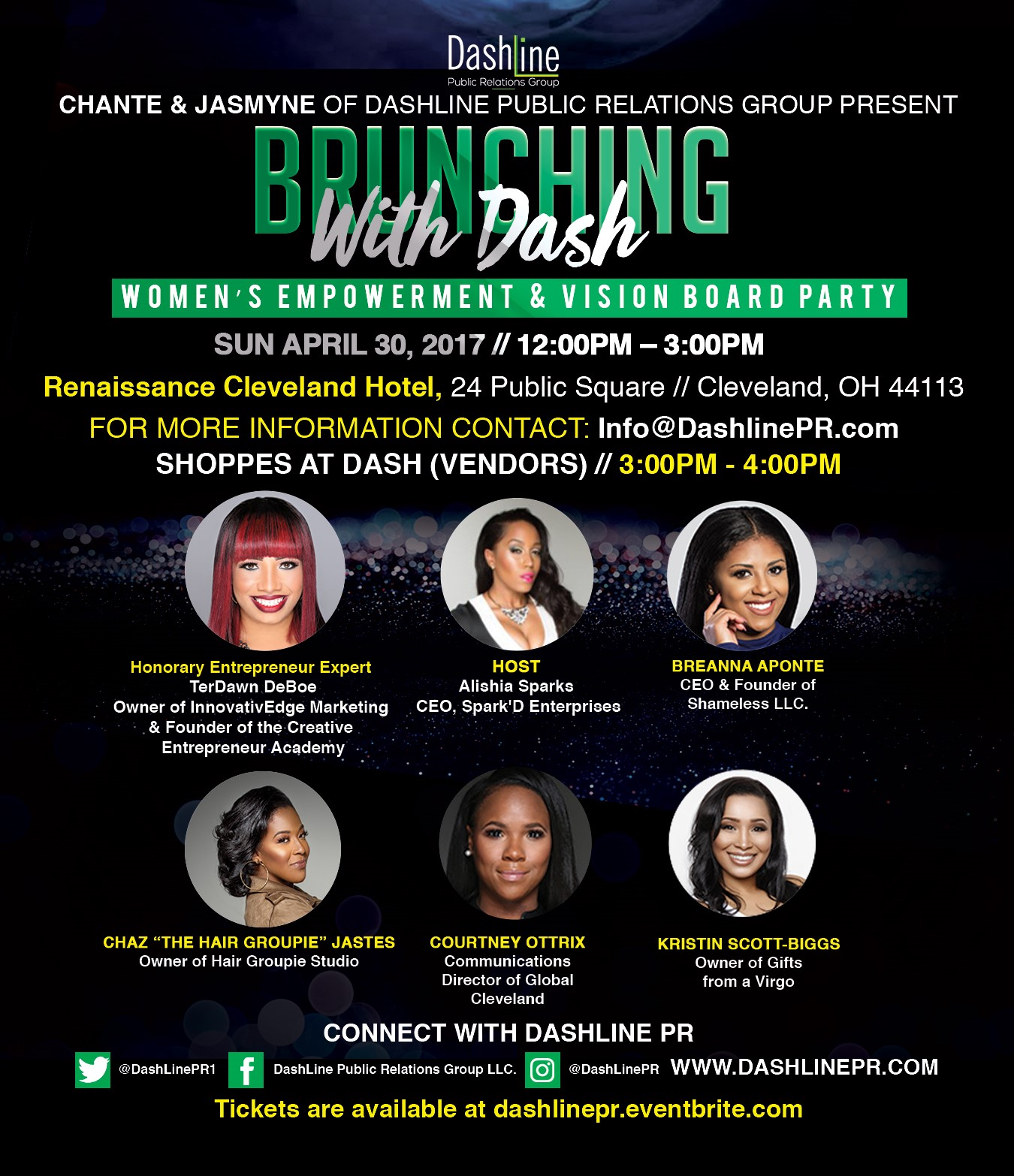 Brunching with Dash Event Flyer