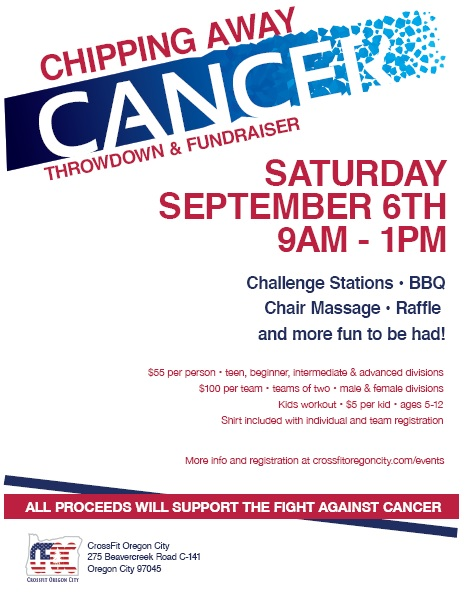 Chipping Away Cancer Flyer