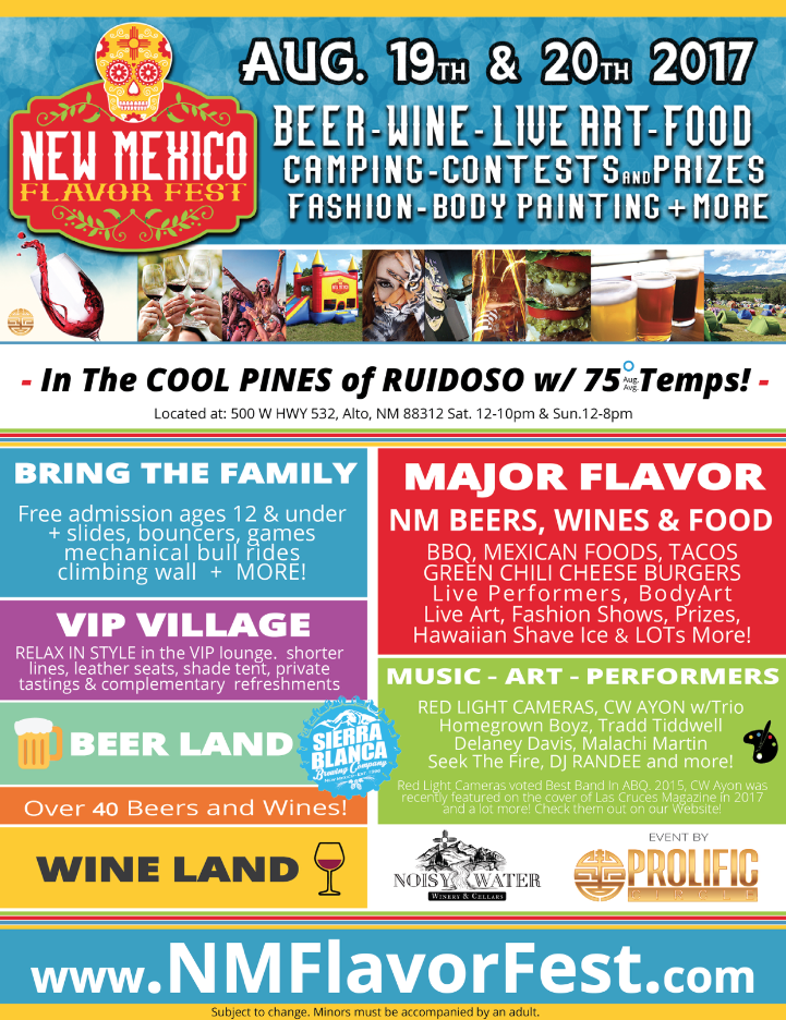 New mexico flavor fest beer wine food music live art for Paint and wine albuquerque