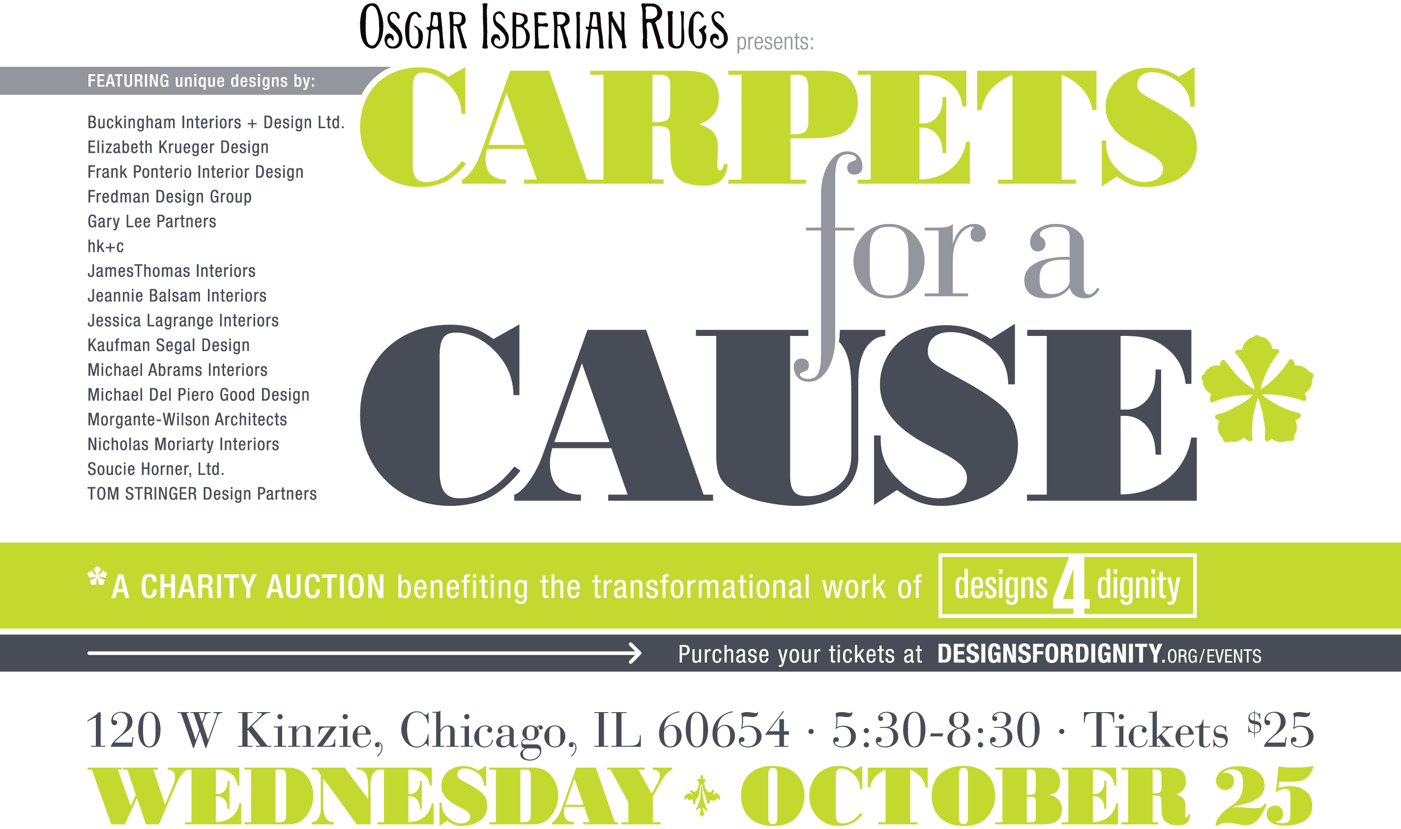 Carpets For A Cause Tickets Wed Oct 25 2017 At 530 PM