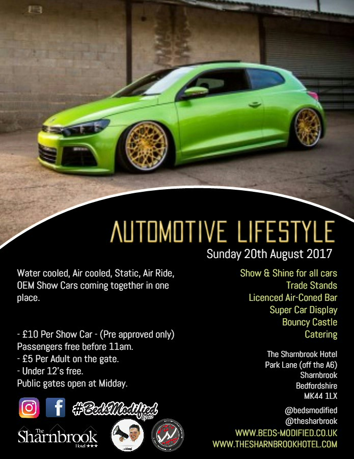 Event Flyer - Beds Modified Automotive Lifestyle Event