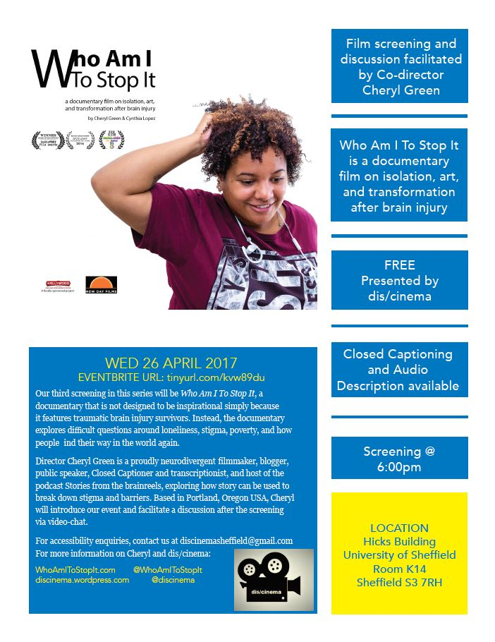 Who Am I To Stop It event flyer