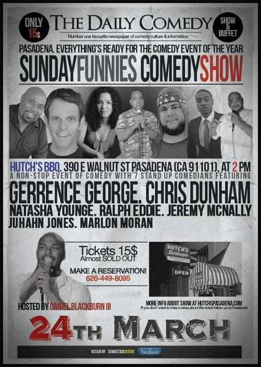 Sunday Funnies at Hutch's - March 24th