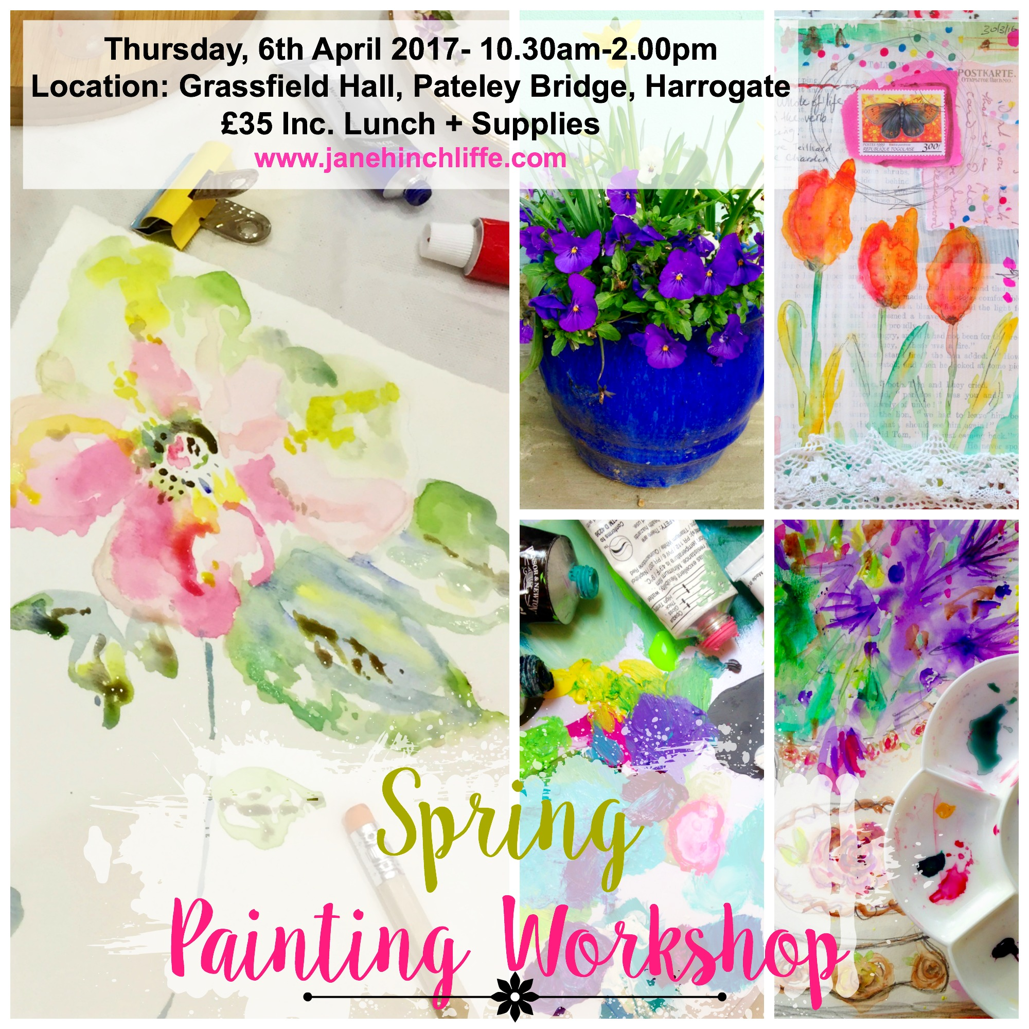 Spring Watercolour Flower Painting Workshop