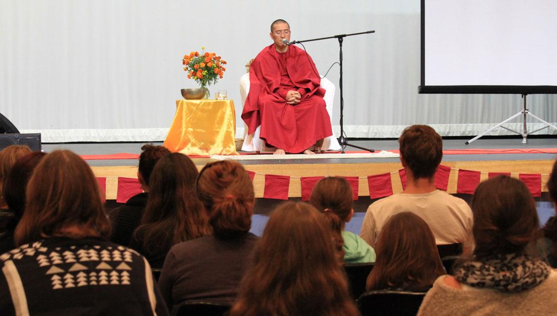 Sri Avinash guiding the Holistic Meditation Technique