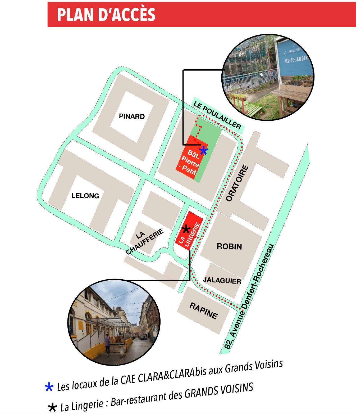 Plan du site des Grands Voisins