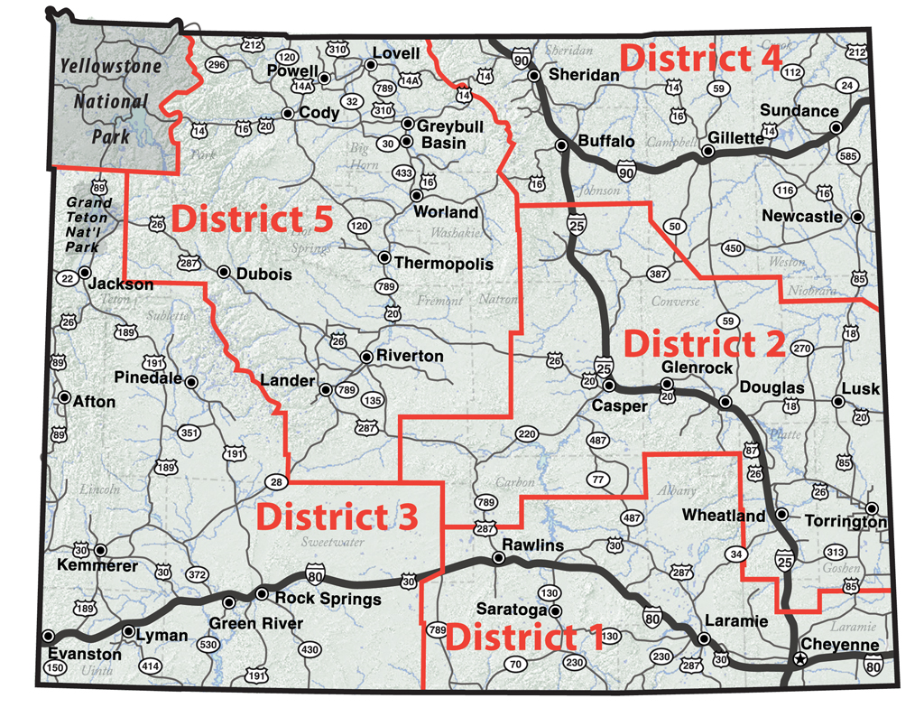 WYDOT Districts