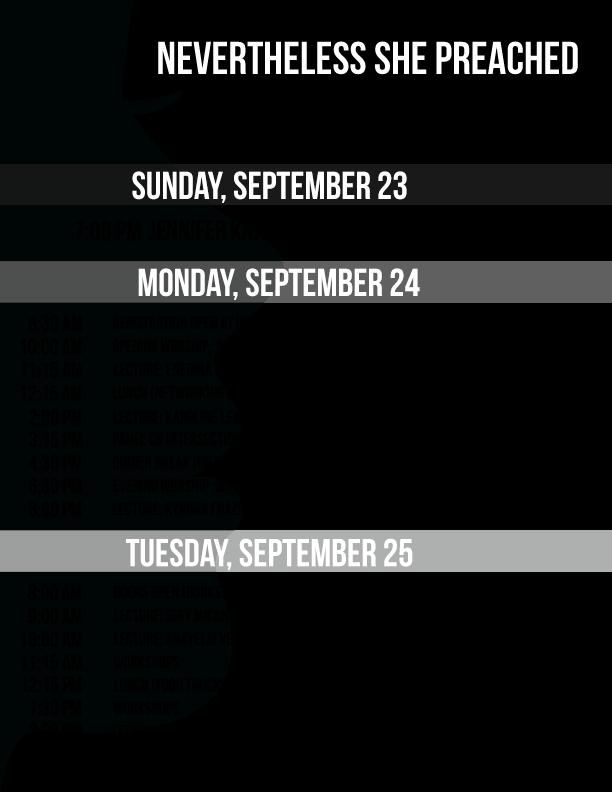 NSP2108 Schedule