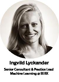 Ingvild Lyckande, Senior Consultant & Practice Lead Machine Learning @ BEKK