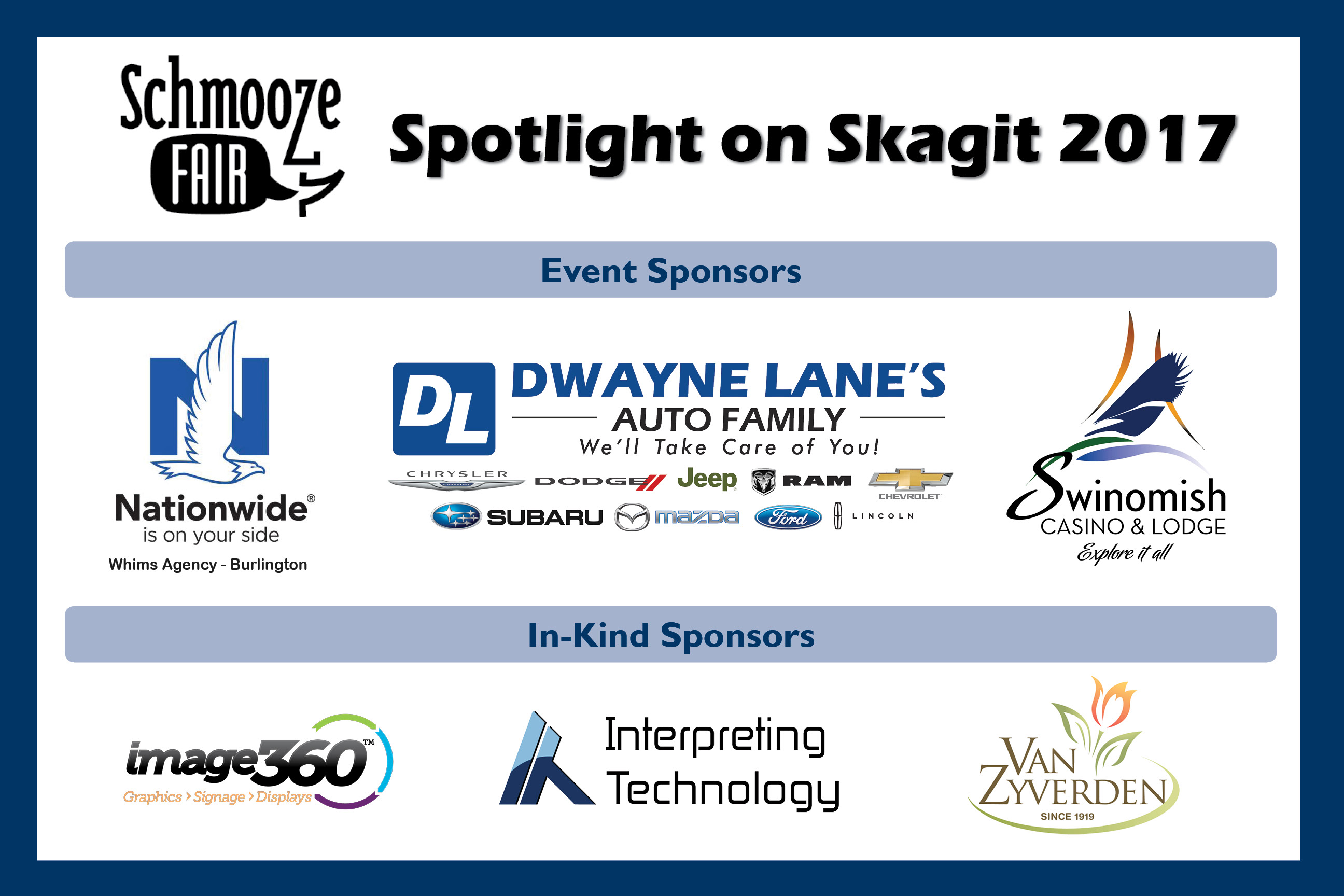 Schmooze Fair Spotlight on Skagit Tickets Thu Apr 6 2017 at 4 00