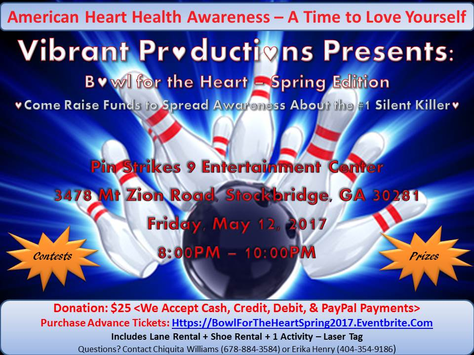 Bowl for the Heart - Spring Edition Flyer