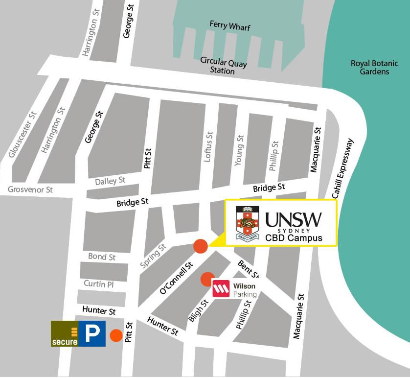 UNSW CBD Campus map