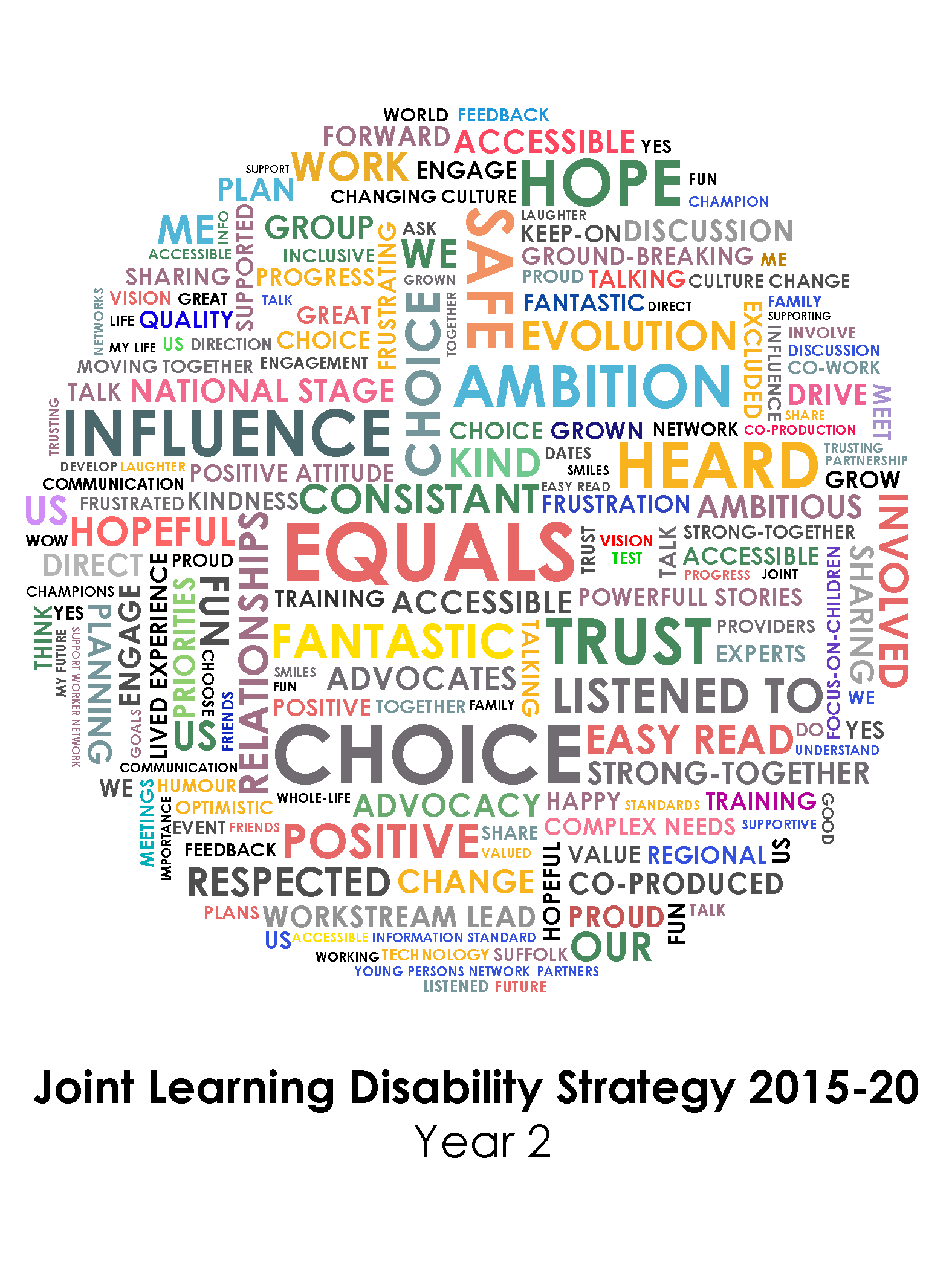 Joint Learning Disability Strategy Wordcloud