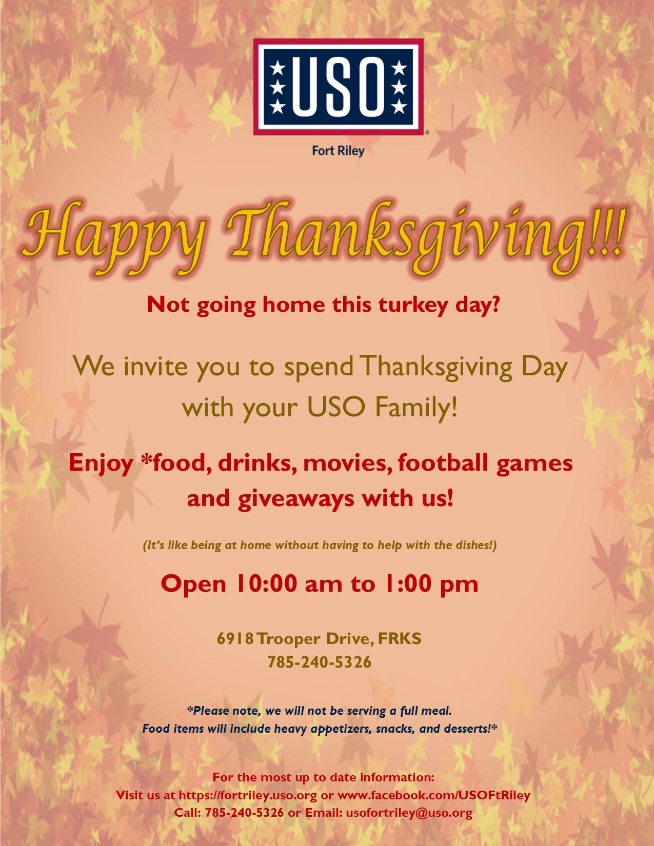 Thanksgiving USO