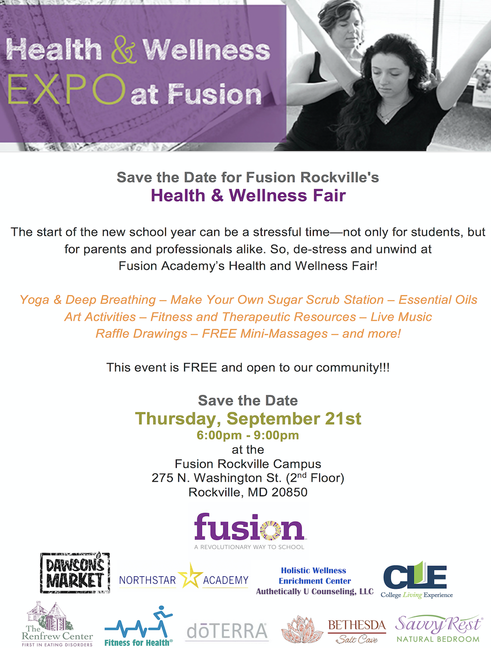 Health and Wellness Expo at Fusion!