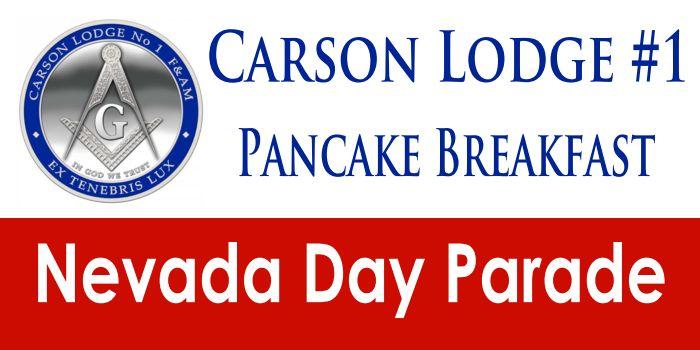Nevada Day Parade Pancake Breakfast; Carson City, NV - Oct. 28